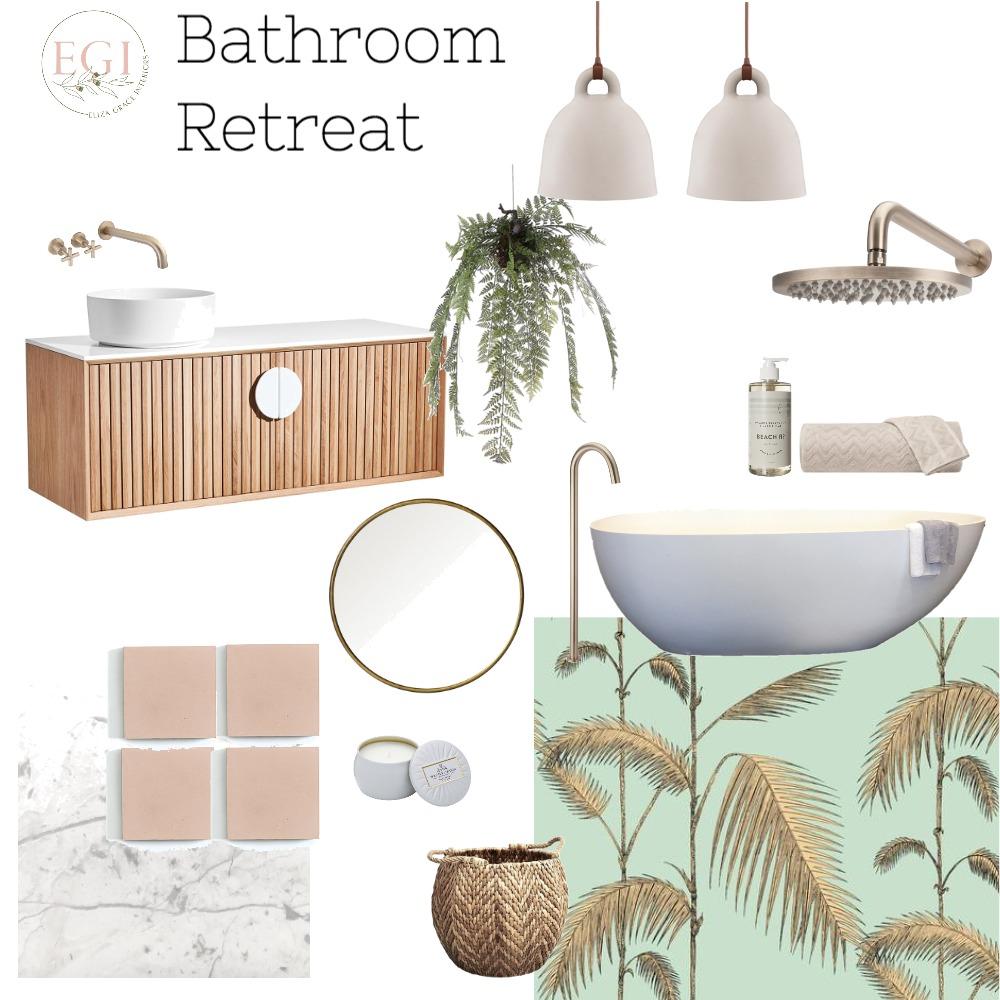 Bathroom Retreat Interior Design Mood Board by Eliza Grace Interiors on Style Sourcebook