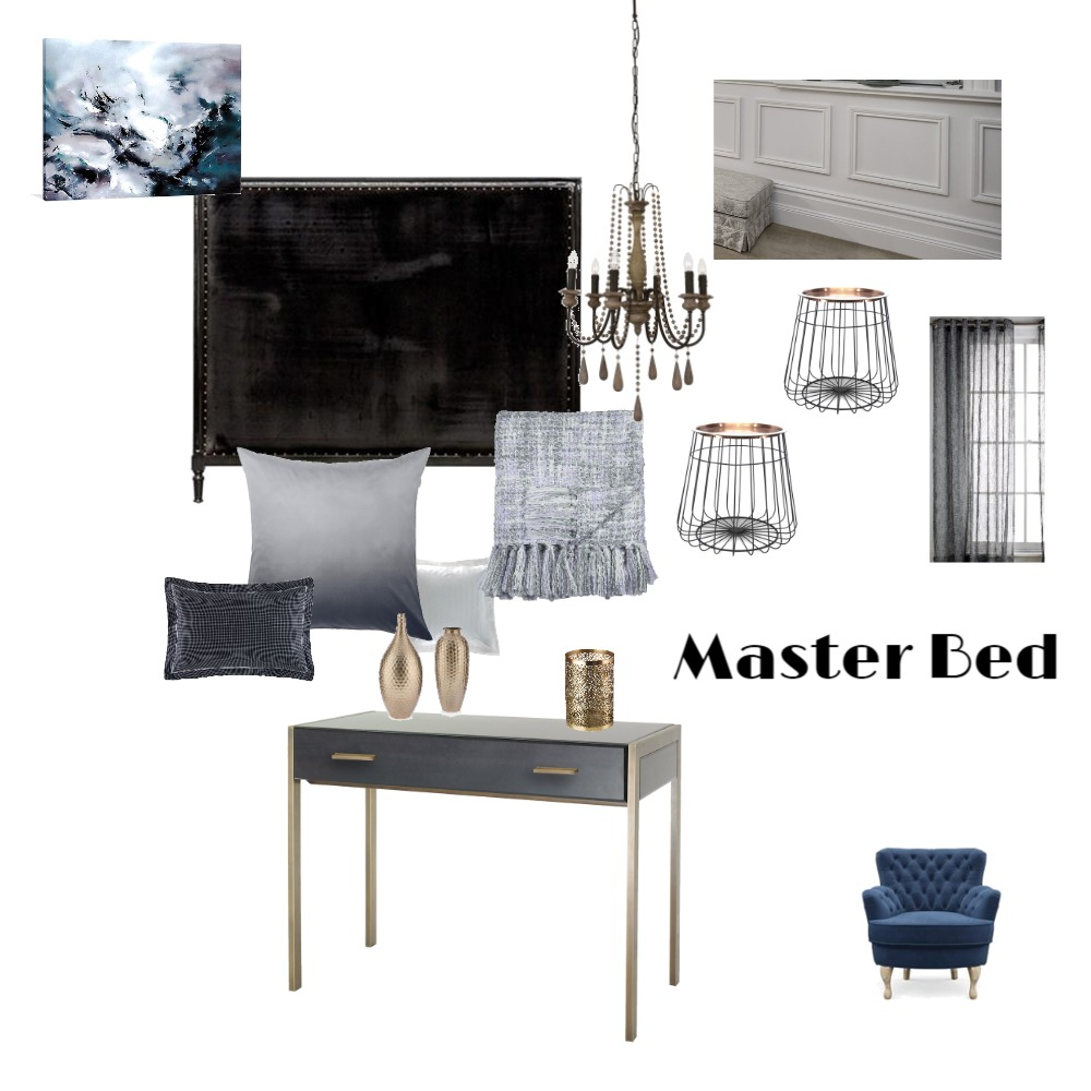 Duplex Master Bed - Luxe Interior Design Mood Board by MimRomano on Style Sourcebook
