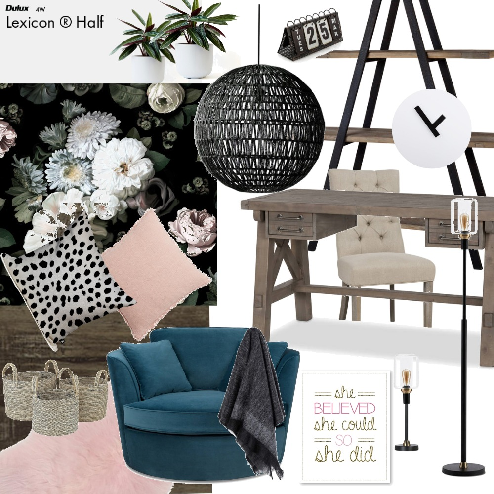Office/Study Interior Design Mood Board by aliciastyle on Style Sourcebook