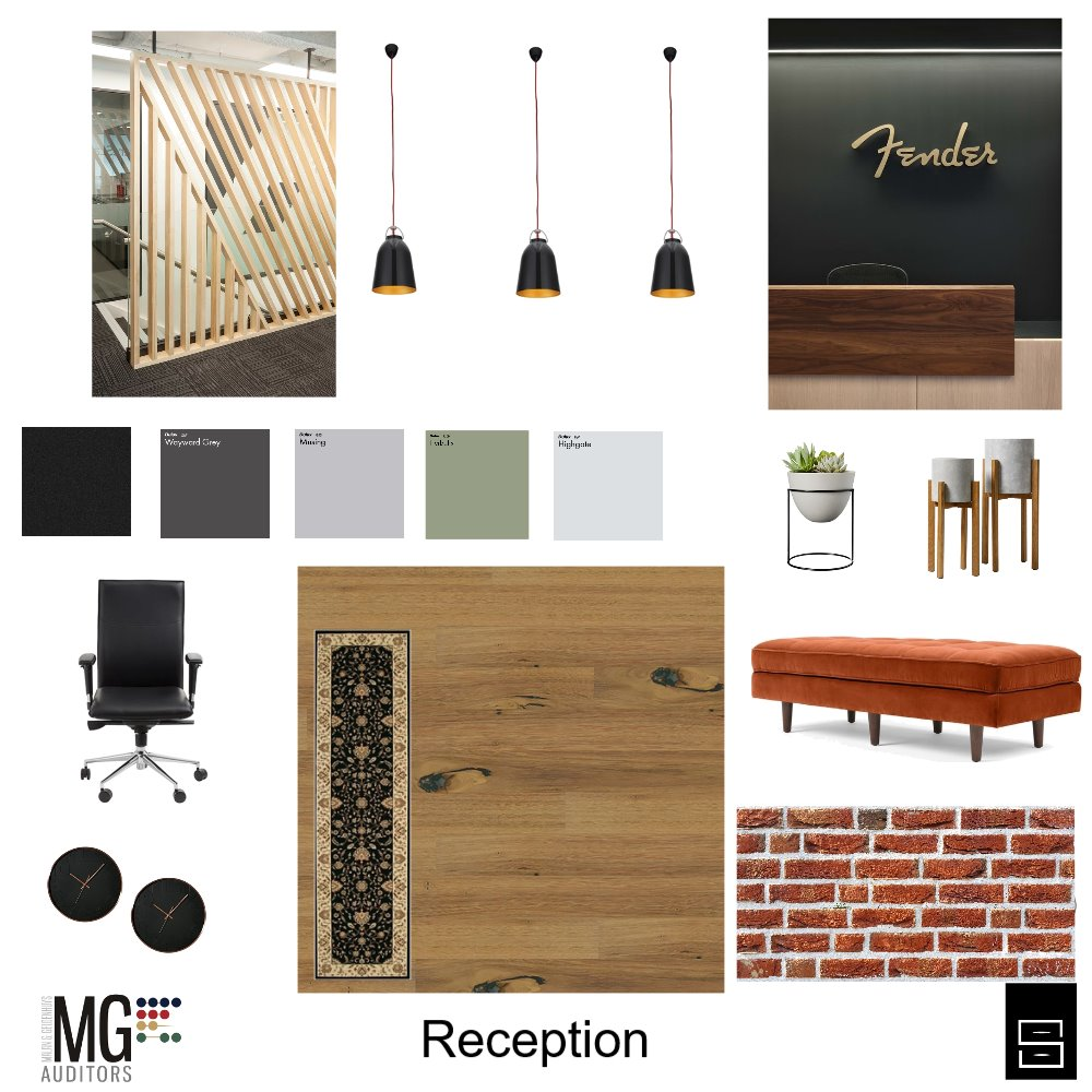 Office Reception Interior Design Mood Board by Marlene on Style Sourcebook