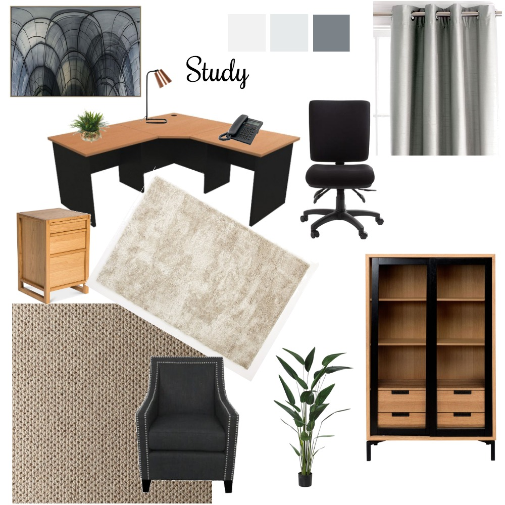 Study Interior Design Mood Board by Jenni on Style Sourcebook