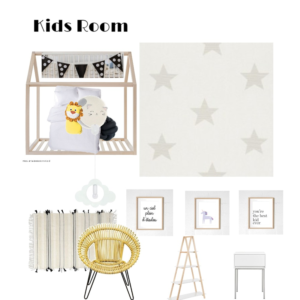 Kids Room/Duplex Interior Design Mood Board by MimRomano on Style Sourcebook