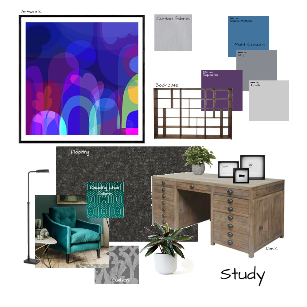 study Interior Design Mood Board by MKT on Style Sourcebook