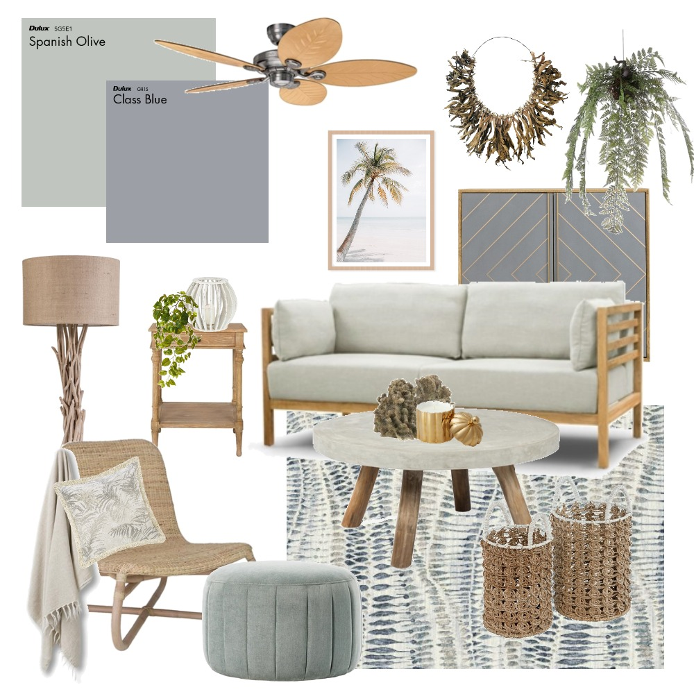 Blue Green Interior Design Mood Board by Thediydecorator on Style Sourcebook