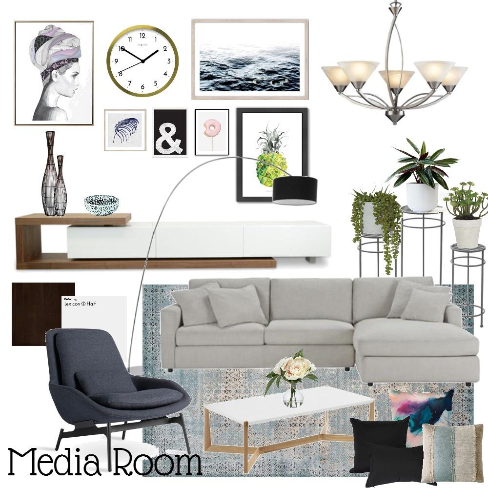 Media Room Interior Design Mood Board by mahaabdulaziz on Style Sourcebook
