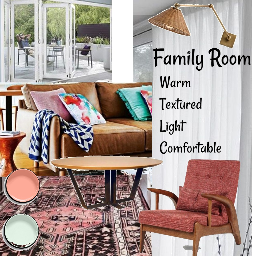 Family room -  assignment Interior Design Mood Board by Frankie on Style Sourcebook
