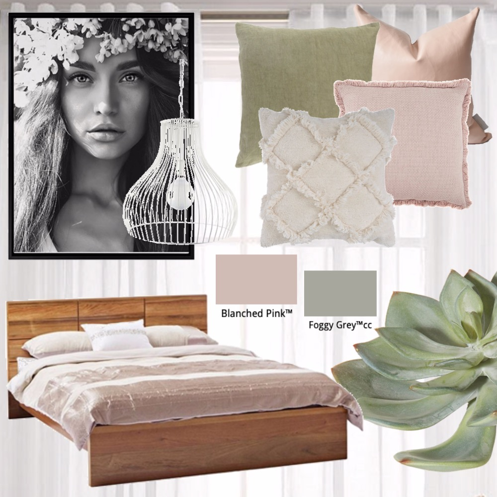 Pink Green Interior Design Mood Board by Clarice & Co - Interiors on Style Sourcebook