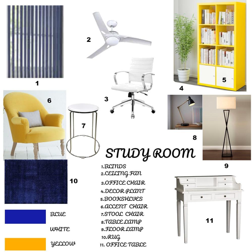 STUDY ROOM Interior Design Mood Board by snehal on Style Sourcebook