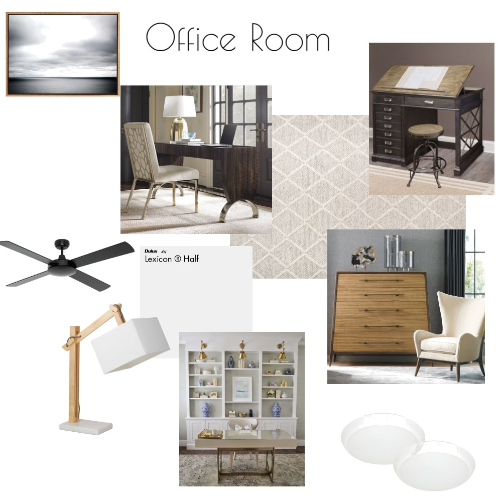 Office Room Interior Design Mood Board by NicoleVella on Style Sourcebook