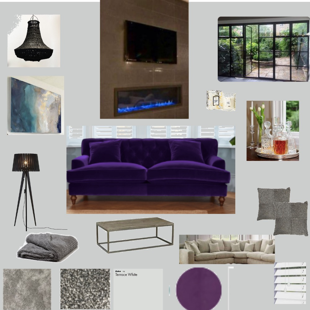 Contemporary/elegant Reception/TV room Interior Design Mood Board by LMH Interiors on Style Sourcebook