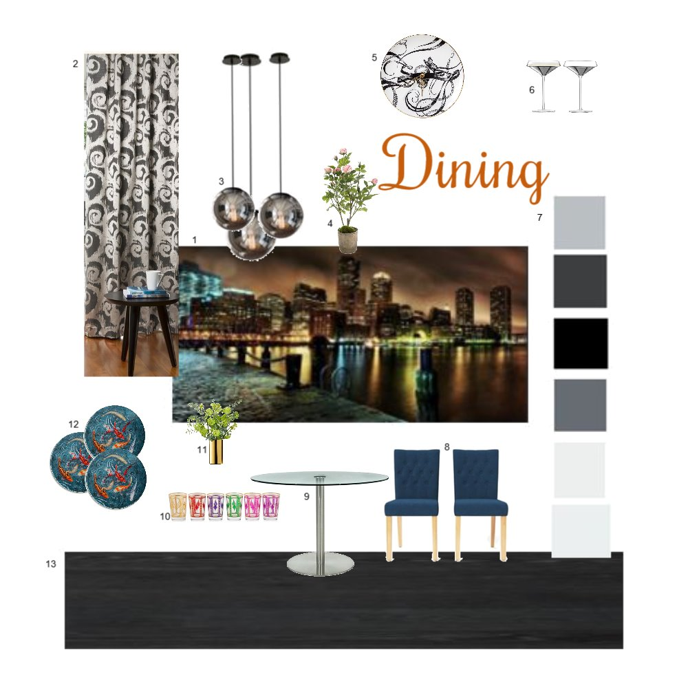 IDI Dining Interior Design Mood Board by bitchins on Style Sourcebook