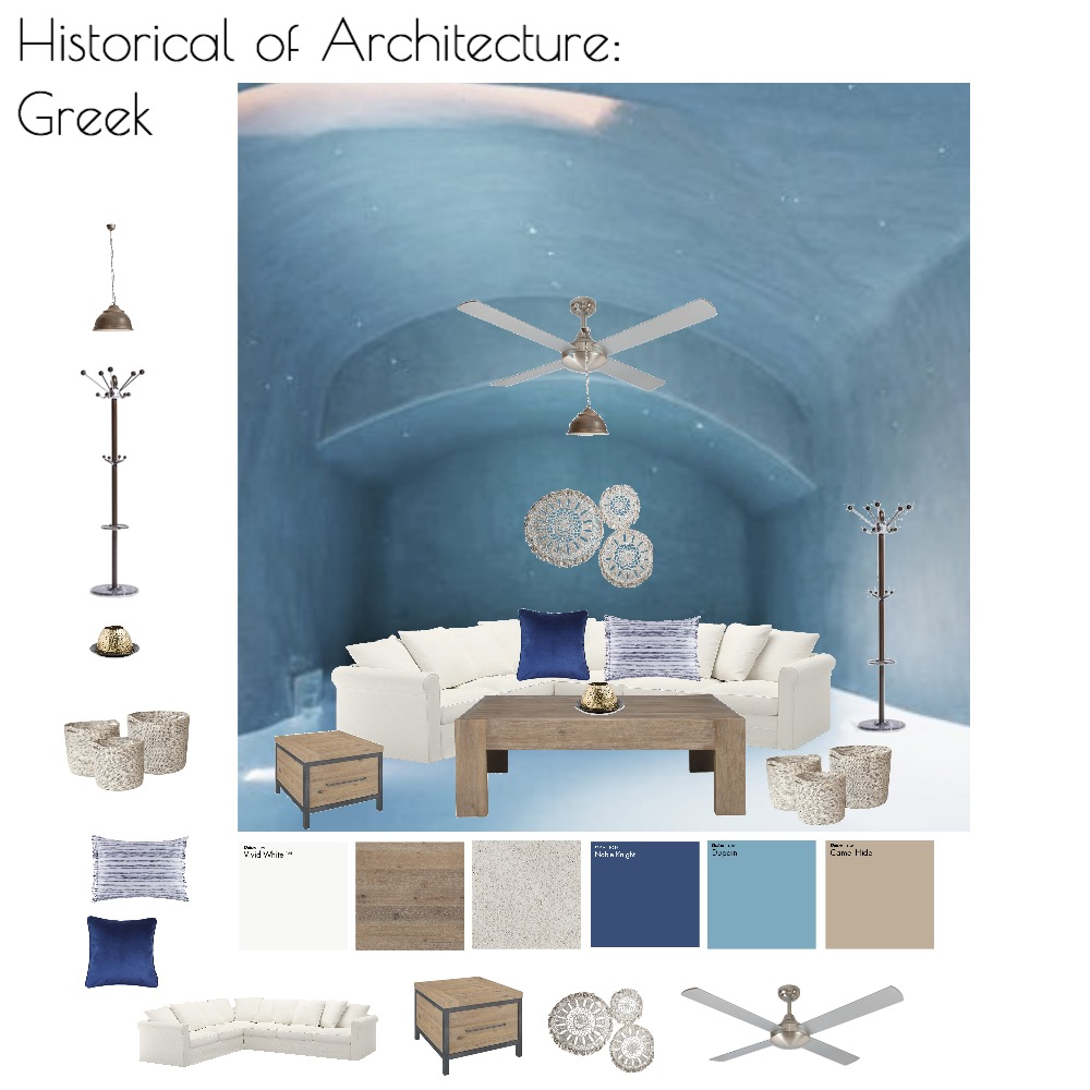 ESDAS GREEK Interior Design Mood Board by jasmineaudina on Style Sourcebook