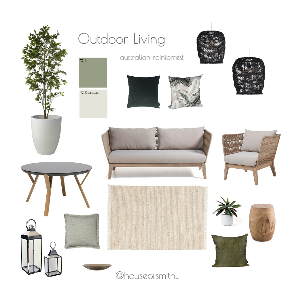 Australian Tropical Outdoor Living Interior Design Mood Board by houseofsmith on Style Sourcebook