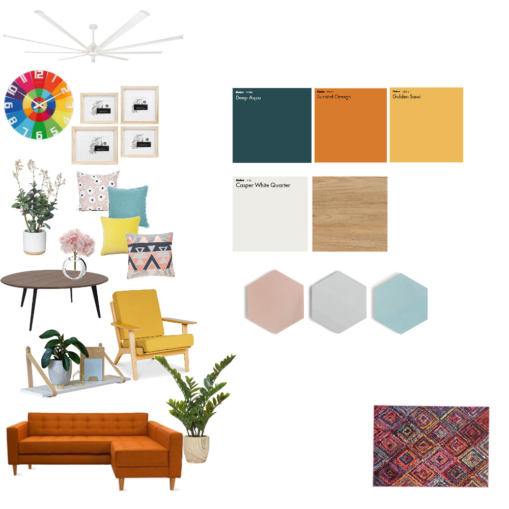 color play Interior Design Mood Board by Putridanaakmallia on Style Sourcebook