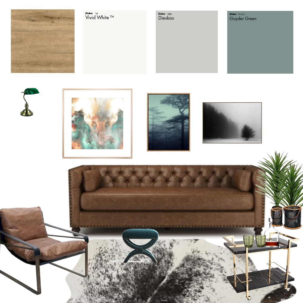 Man Cave Interior Design Mood Board by KellyByrne on Style Sourcebook
