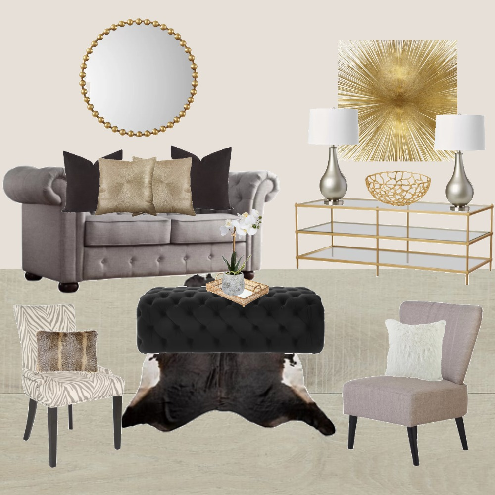 Stylish Living Room Interior Design Mood Board by theglam on Style Sourcebook