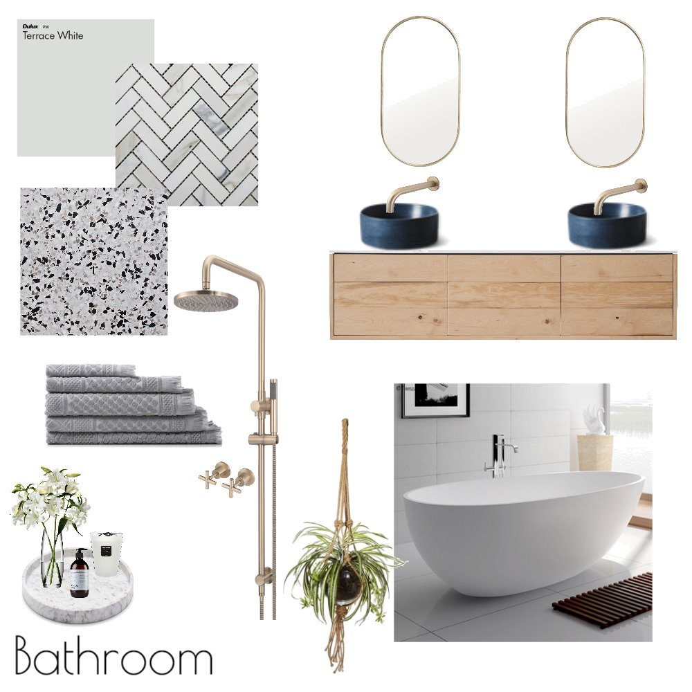 Bathroom Interior Design Mood Board by Reflective Styling on Style Sourcebook