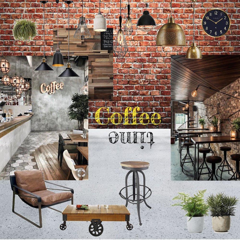 Industrial Coffee Shop Interior Design Mood Board by gsagoo on Style Sourcebook