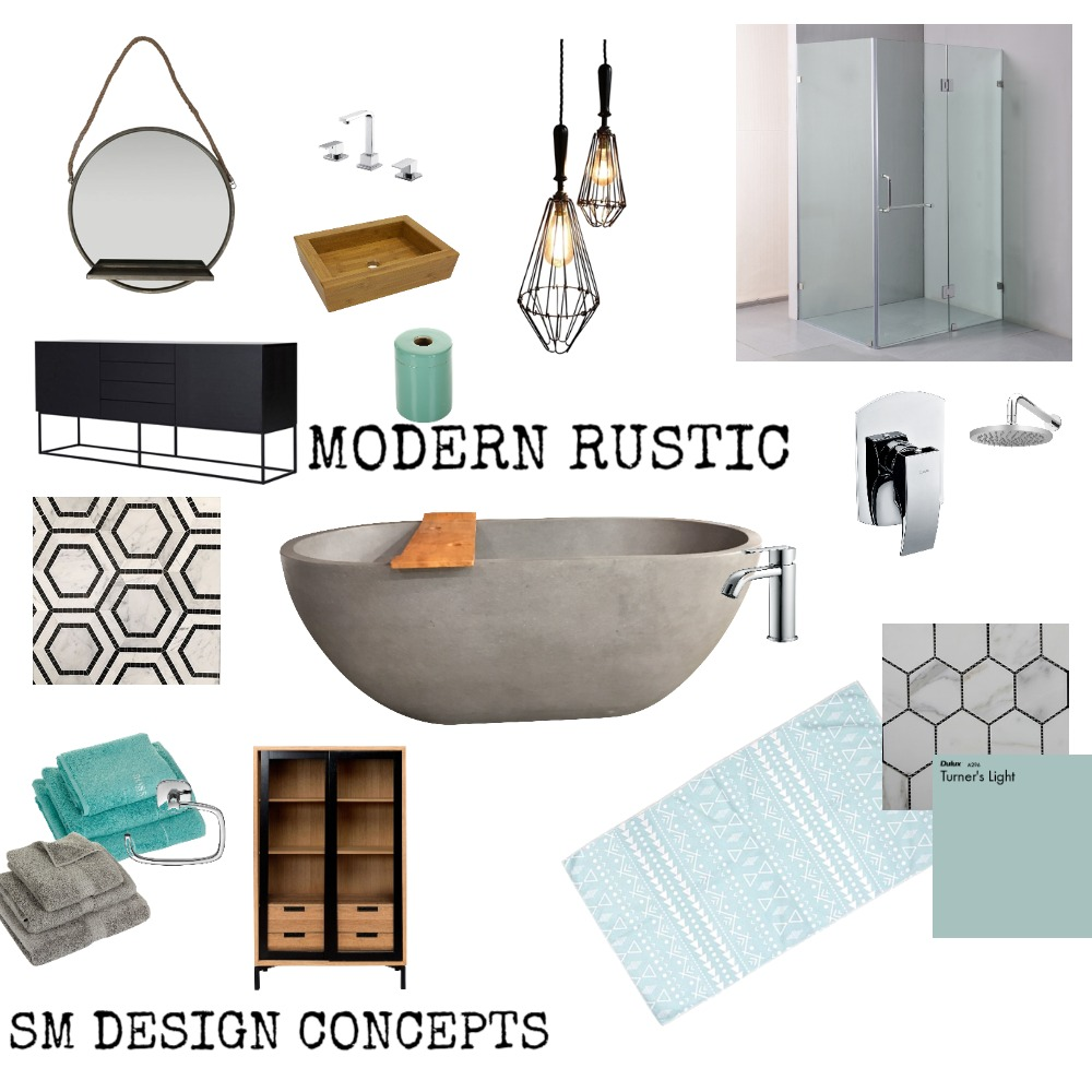MODERN RUSTIC Interior Design Mood Board by LuvDesign on Style Sourcebook