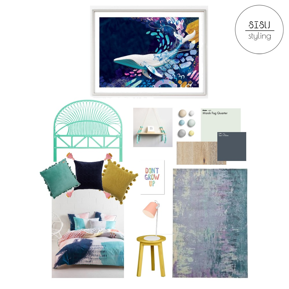 Asha's room Interior Design Mood Board by Sisu Styling on Style Sourcebook
