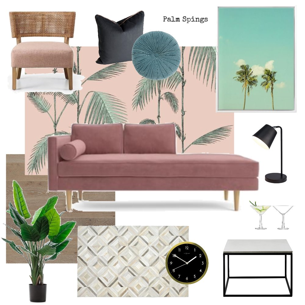 palm springs sitting room Interior Design Mood Board by donovaninthewild on Style Sourcebook