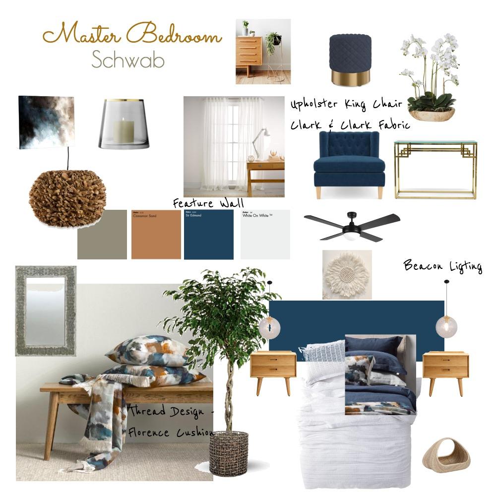 Schwab master bedroom Interior Design Mood Board by staceyloveland on Style Sourcebook