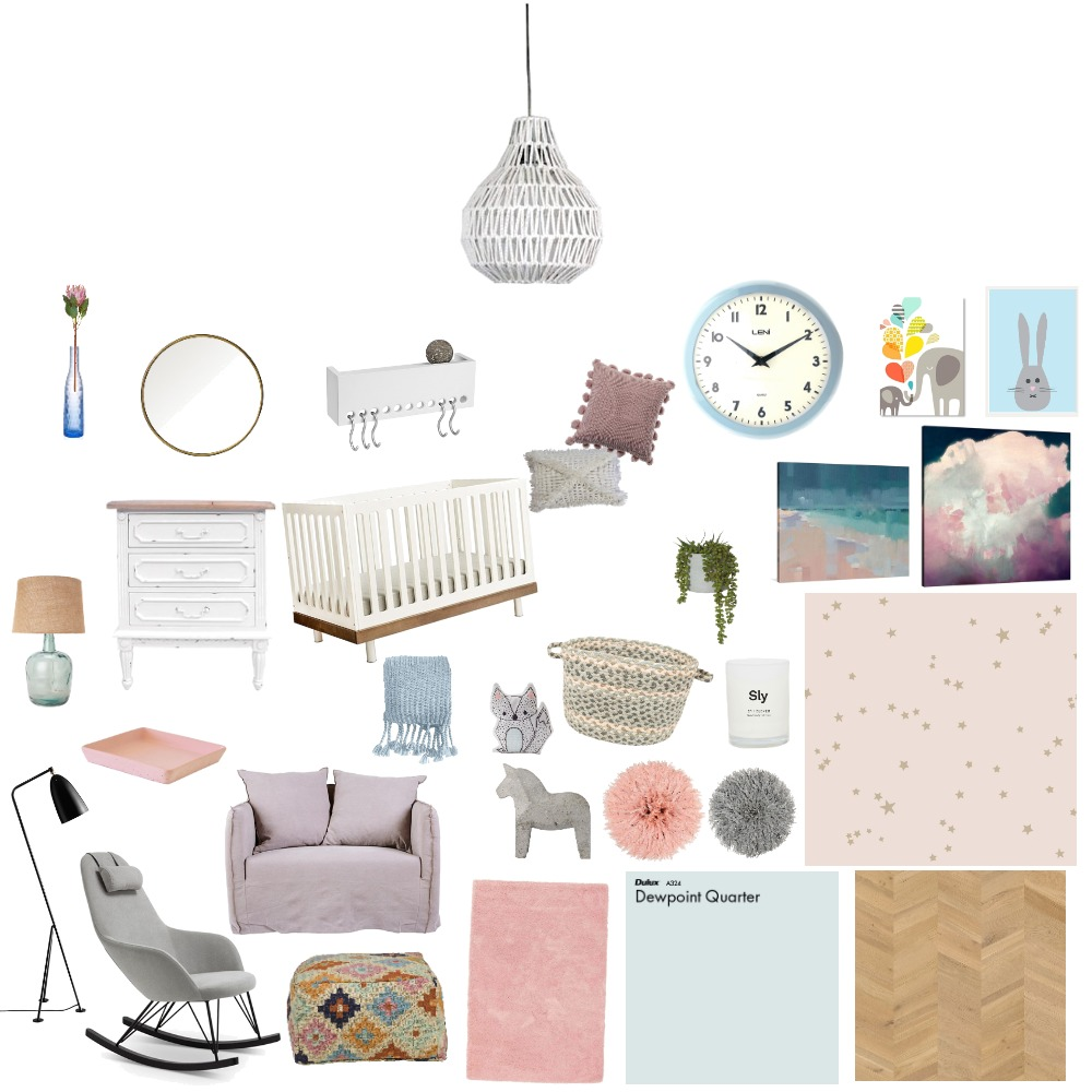 baby room Interior Design Mood Board by emfischlin on Style Sourcebook