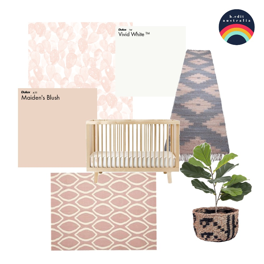 Boho Nursery Concept Interior Design Mood Board by h.edit australia on Style Sourcebook