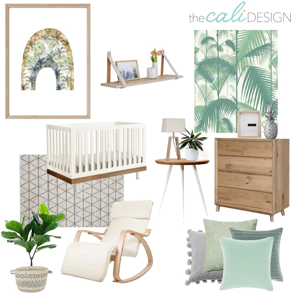 Palm Nursery Interior Design Mood Board by The Cali Design  on Style Sourcebook
