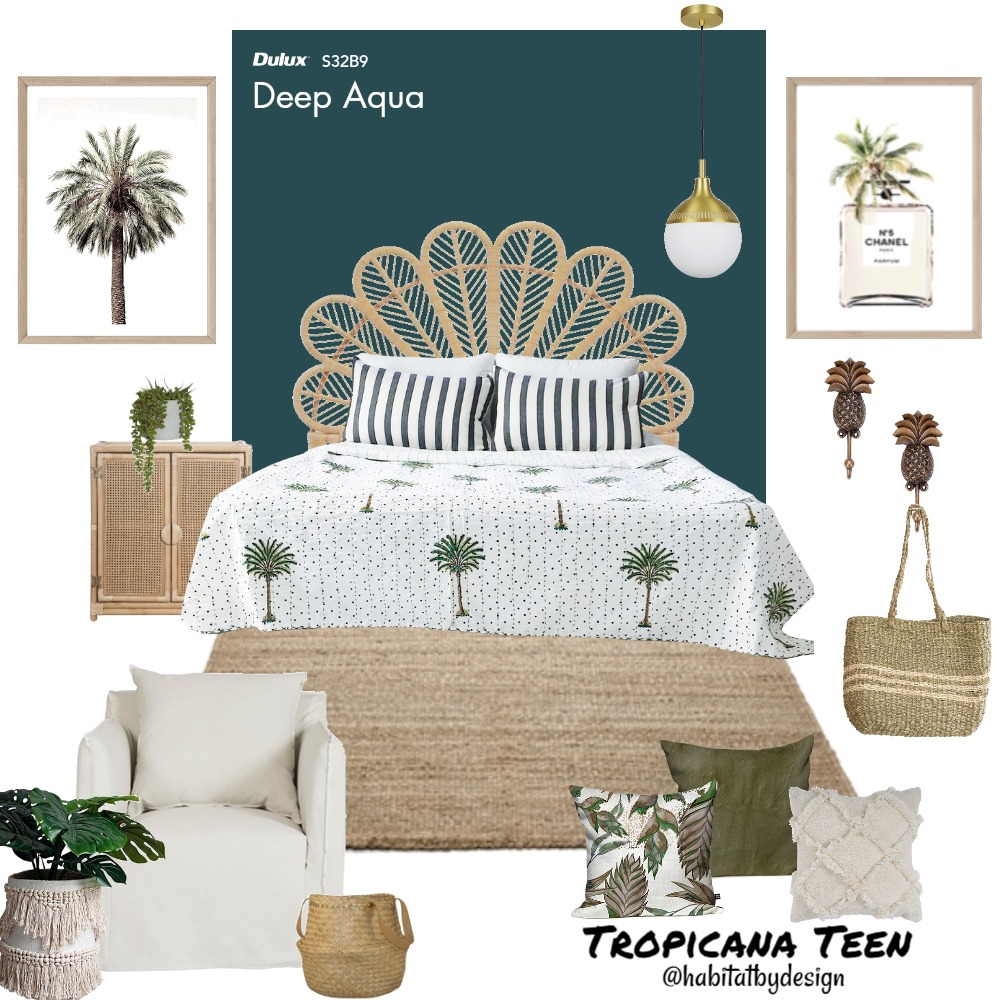 Tropicana Teen Interior Design Mood Board by Habitat_by_Design on Style Sourcebook