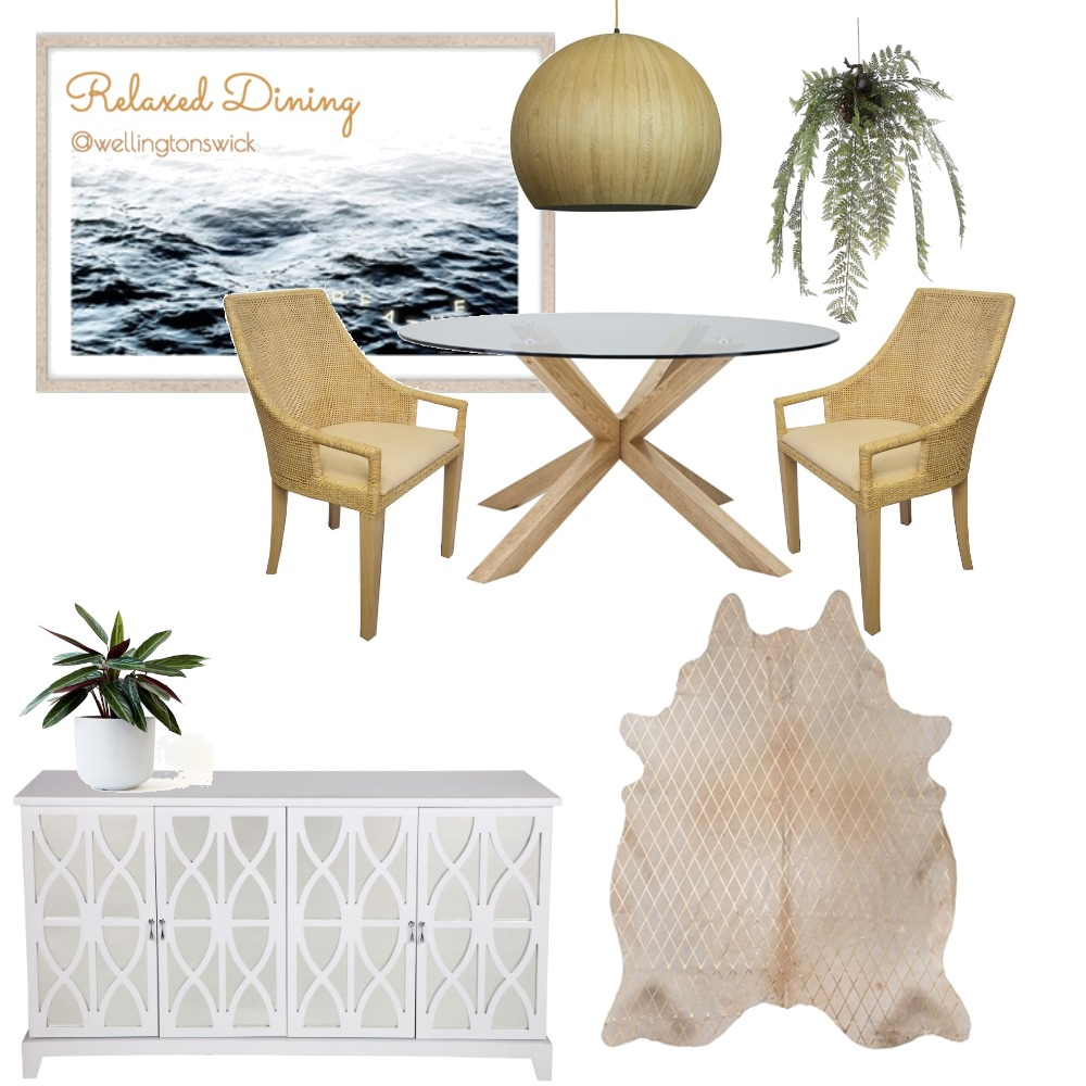 relaxed dining Interior Design Mood Board by JessWell on Style Sourcebook