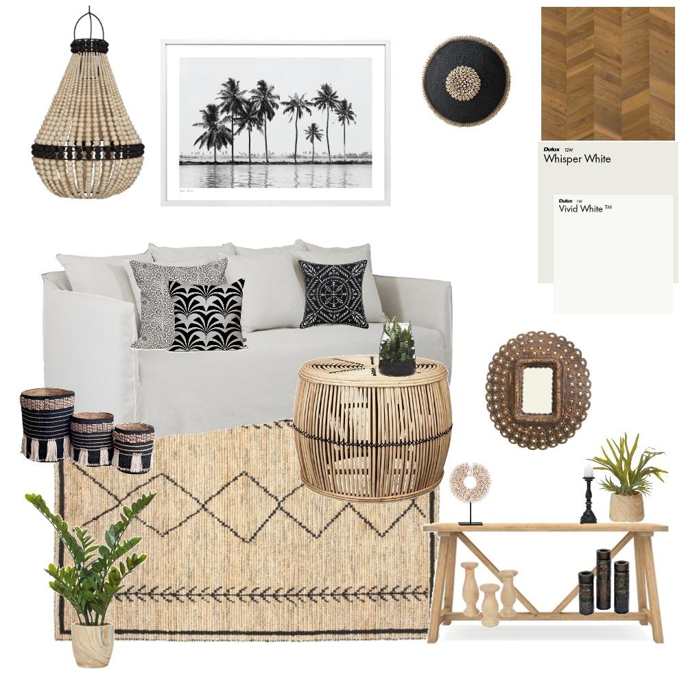 Boho Hamptons Coastal Living Room Interior Design Mood Board by Lupton Interior Design on Style Sourcebook