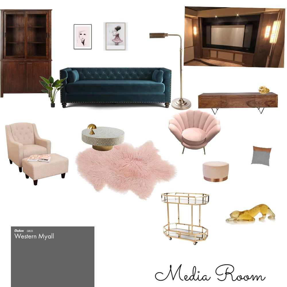 Media Room Interior Design Mood Board by Smurfette on Style Sourcebook