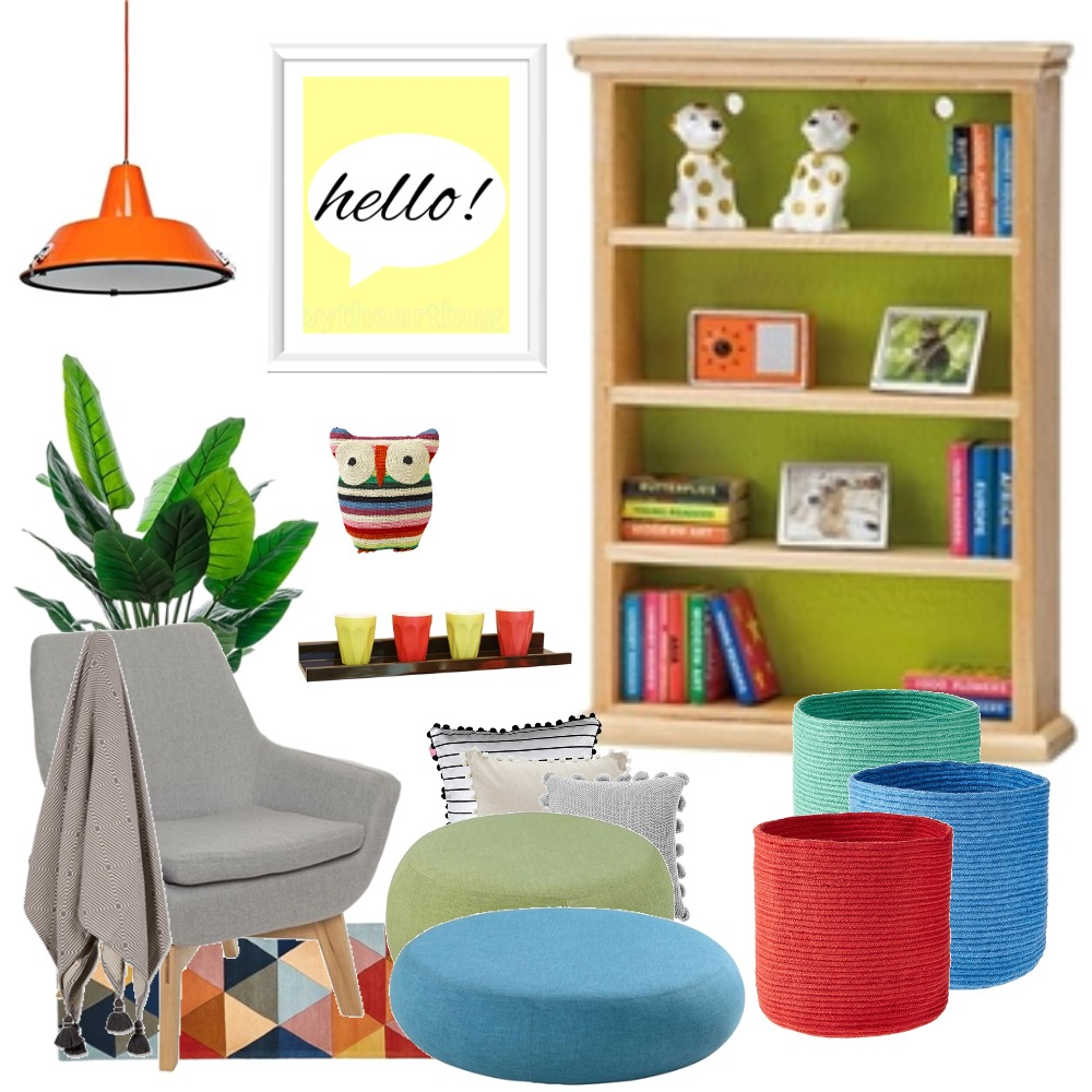 Bold. Bright. Reading Nook. Interior Design Mood Board by Cassandra on Style Sourcebook