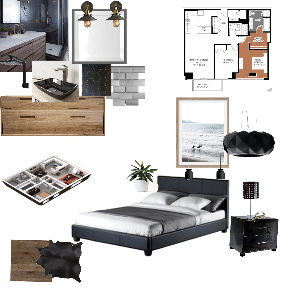 Chris Calrsen condo Interior Design Mood Board by Velvet Rose Interior Designs on Style Sourcebook