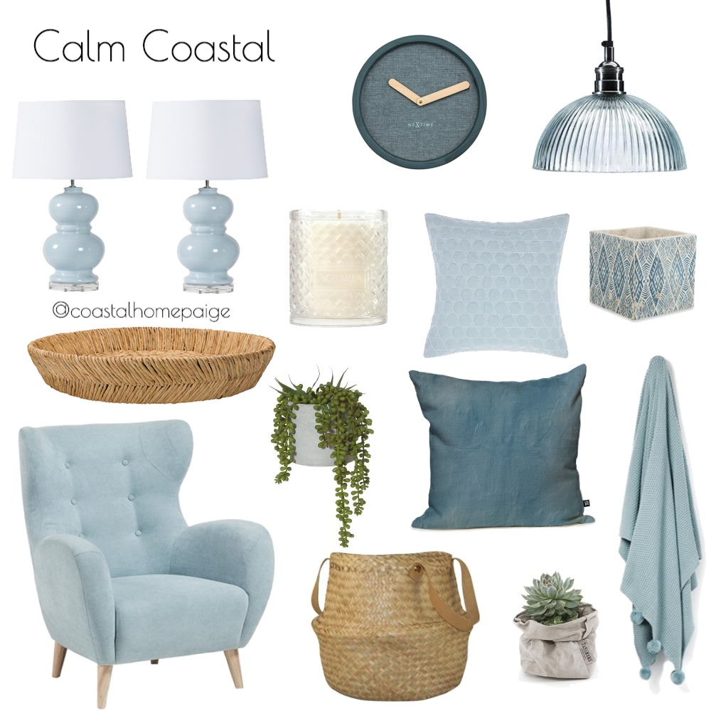 Calm Coastal Interior Design Mood Board by CoastalHomePaige on Style Sourcebook