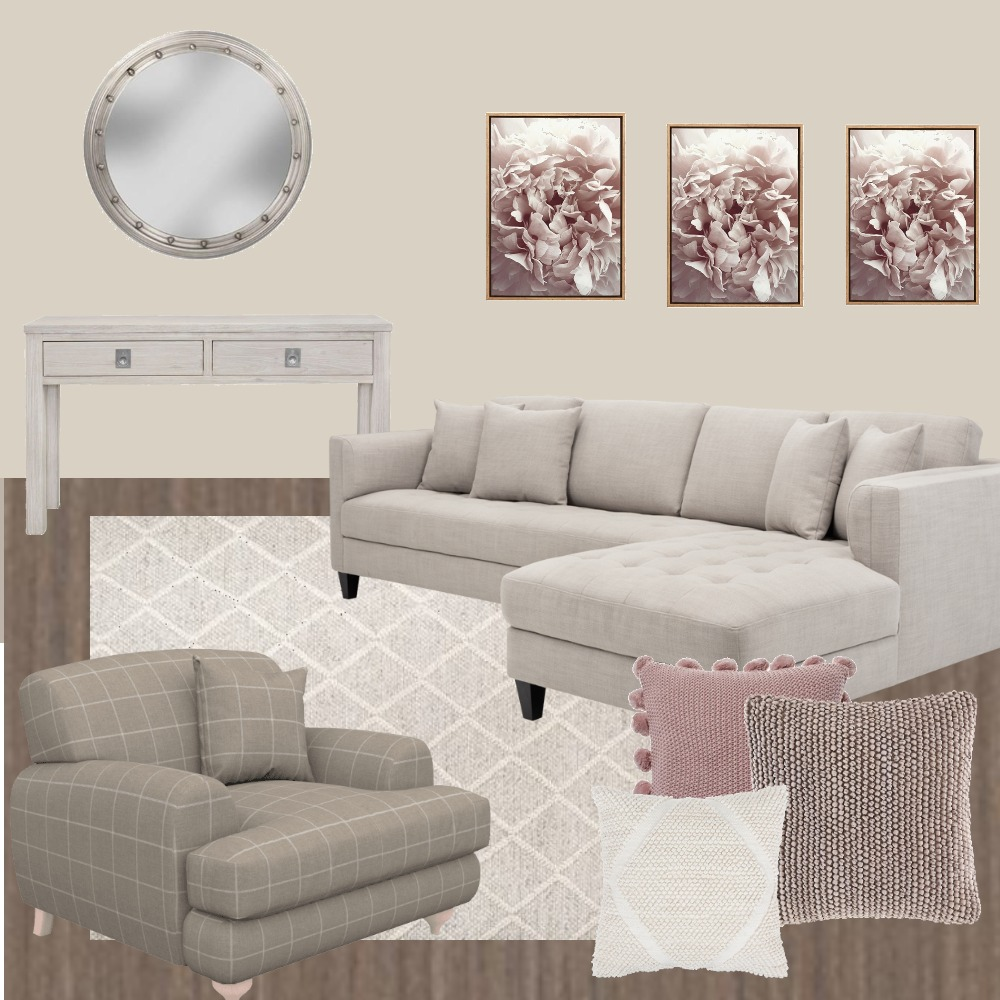 Neutral feminine living Interior Design Mood Board by RobynCorr on Style Sourcebook