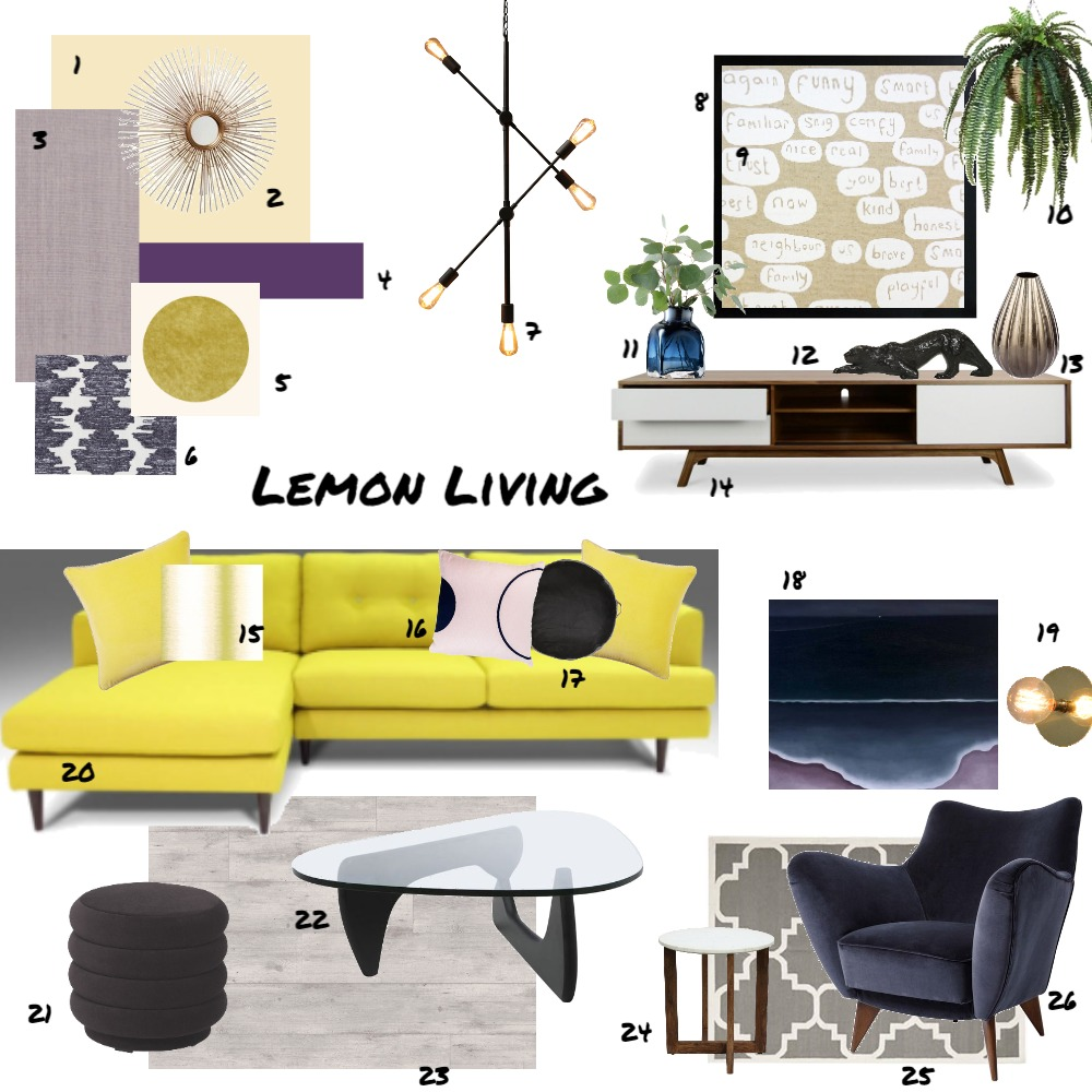 Assignment 9 - Living space Interior Design Mood Board by JoannaLee on Style Sourcebook
