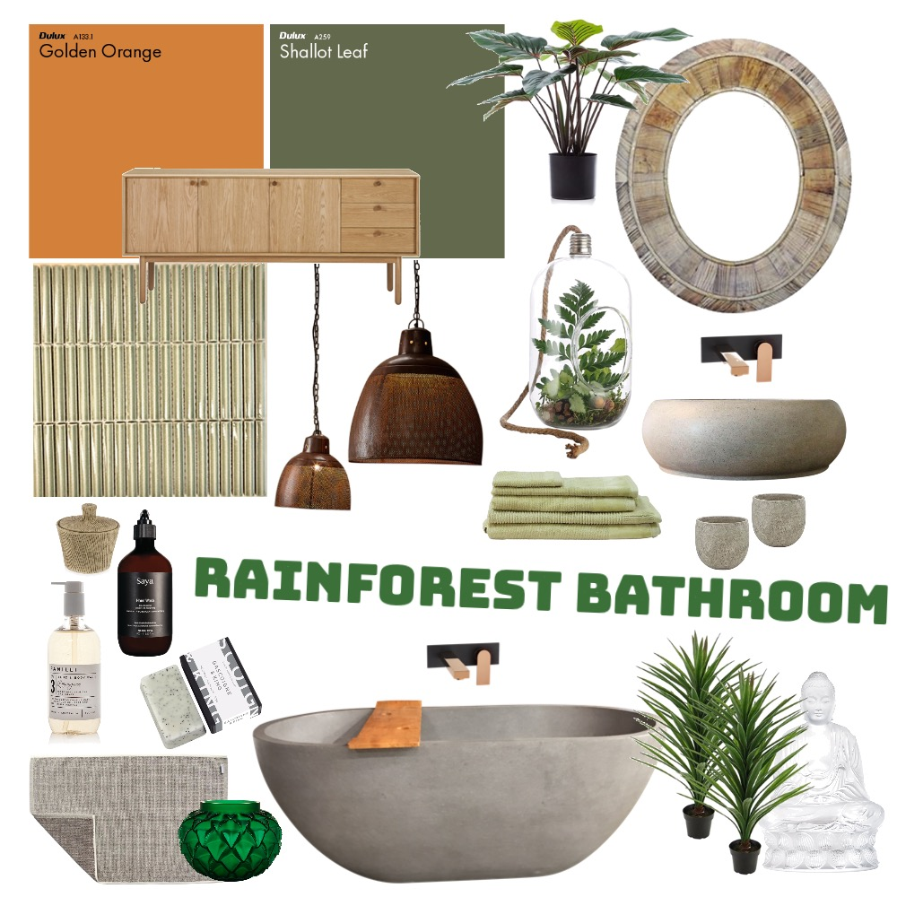 Rainforest Bathroom Interior Design Mood Board by Danant on Style Sourcebook