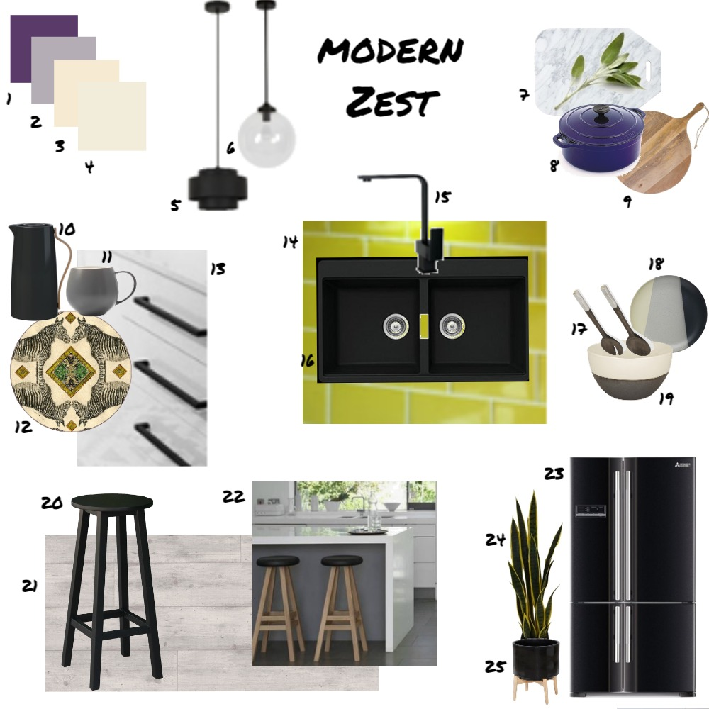 Assignment 9 - Kitchen Interior Design Mood Board by JoannaLee on Style Sourcebook