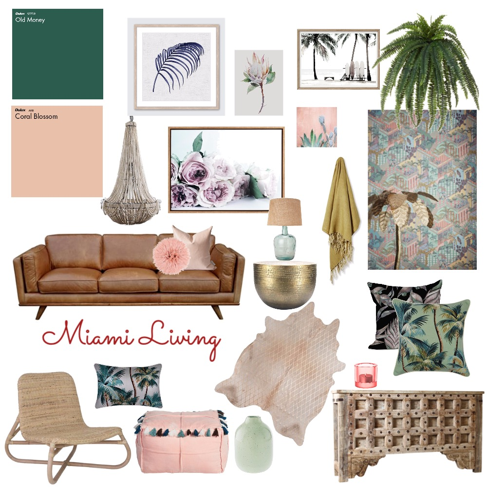 Miami Living Interior Design Mood Board by Danant on Style Sourcebook