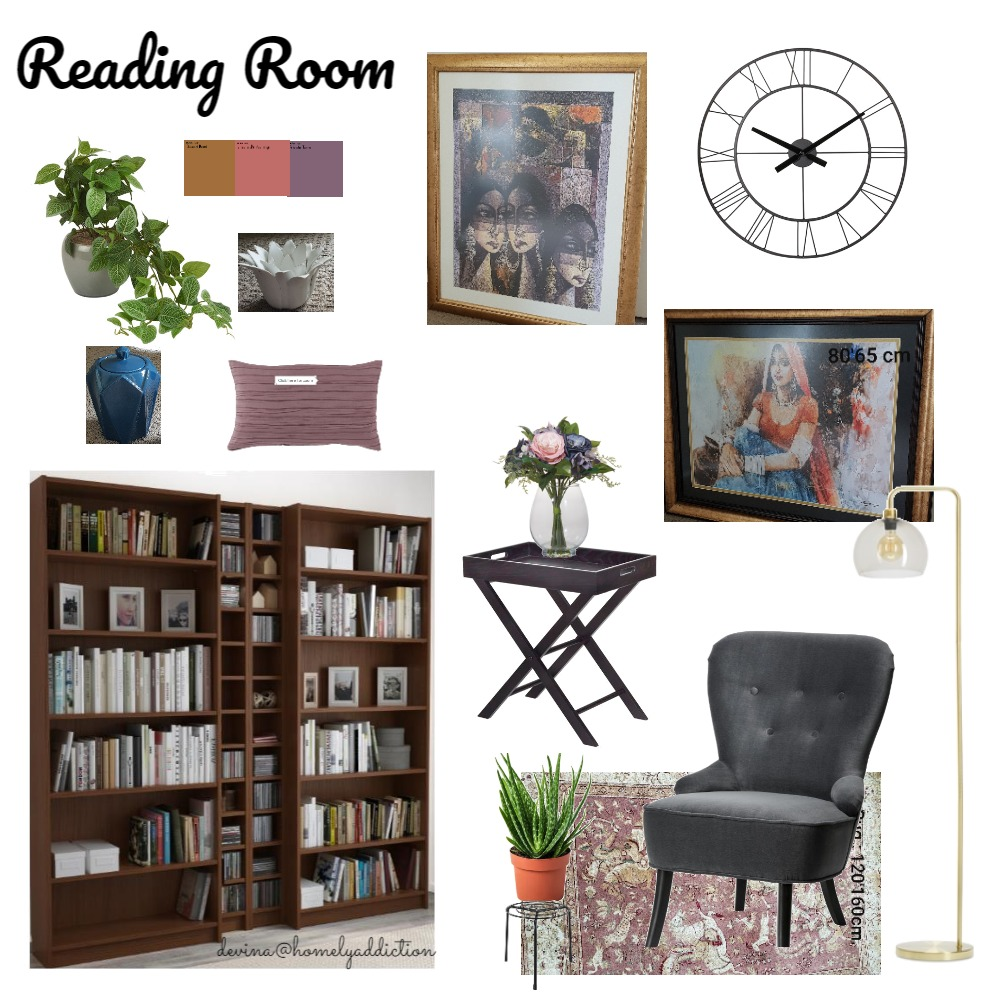 Home library Interior Design Mood Board by HomelyAddiction on Style Sourcebook