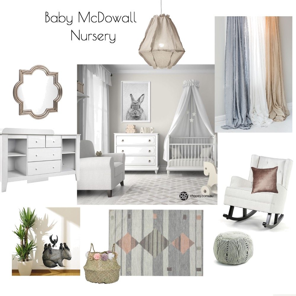 Baby McDowall Nursery Interior Design Mood Board by kime7345 on Style Sourcebook