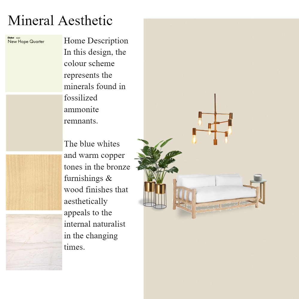 Mineral Aesthetic Interior Design Mood Board by KGrosvenor on Style Sourcebook