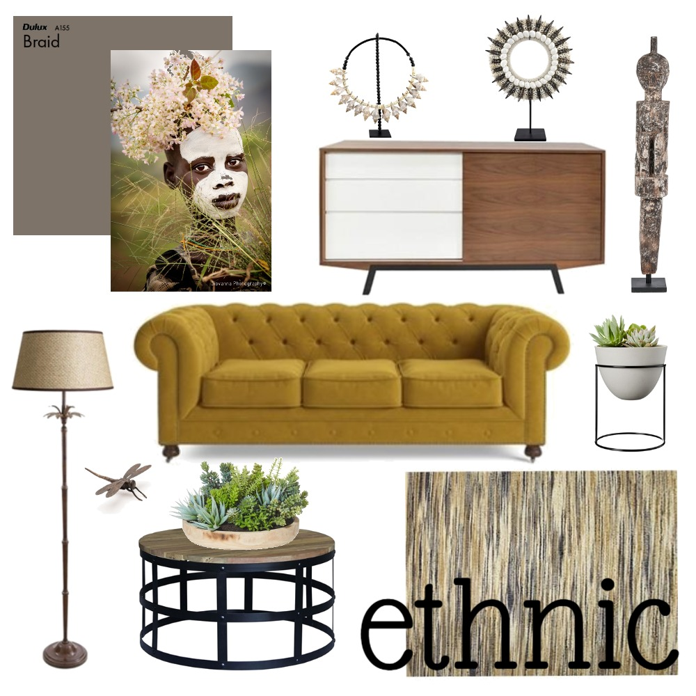 Ethnic Chic Interior Design Mood Board by YellowBirdStyling on Style Sourcebook