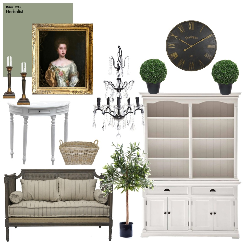 Gustavian Inspiration Interior Design Mood Board by YellowBirdStyling on Style Sourcebook