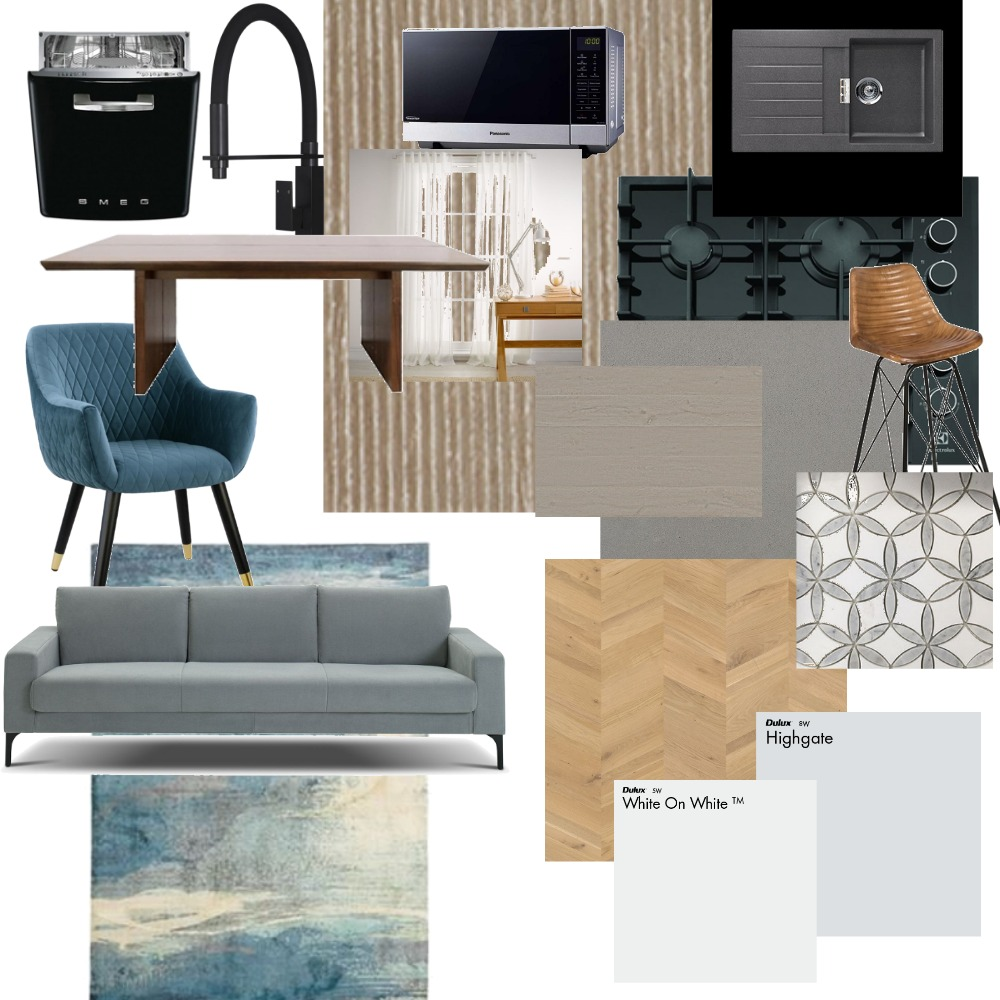Blue & Beige Interior Design Mood Board by Ginny on Style Sourcebook