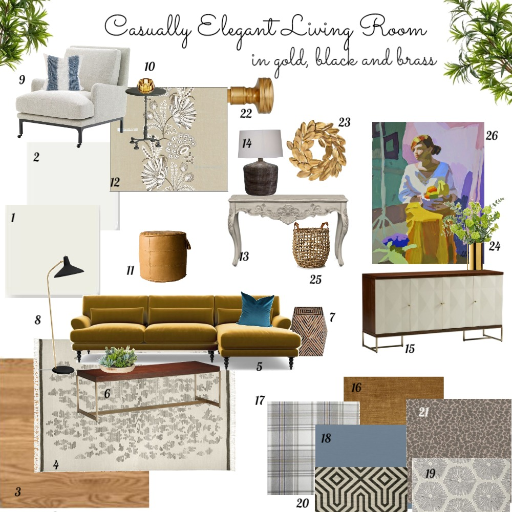 TIDI Living Room Interior Design Mood Board by dorothy on Style Sourcebook