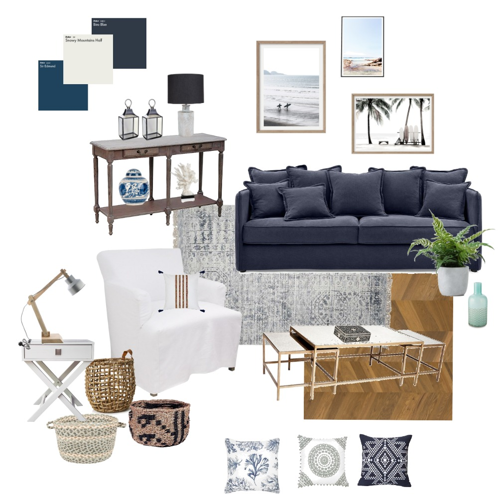 Coastal Interior Design Mood Board by bluecottagestudio on Style Sourcebook