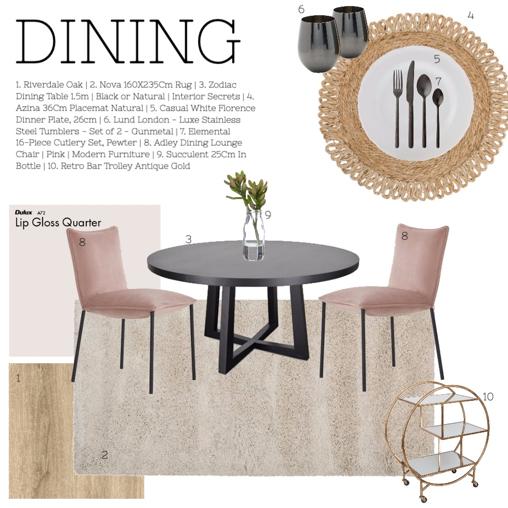 DINING ROOM Interior Design Mood Board by ES Abode on Style Sourcebook